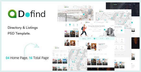 Dofind — Multipurpose Directory Listing PSD Template