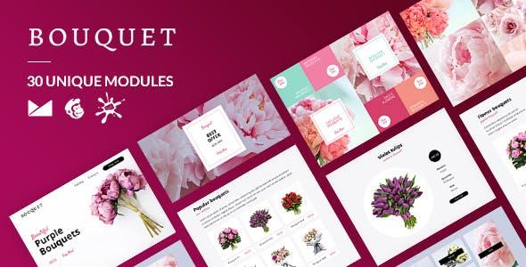Bouquet Email-Template + Online Builder