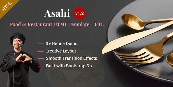 Asahi - Food & Restaurant HTML Template