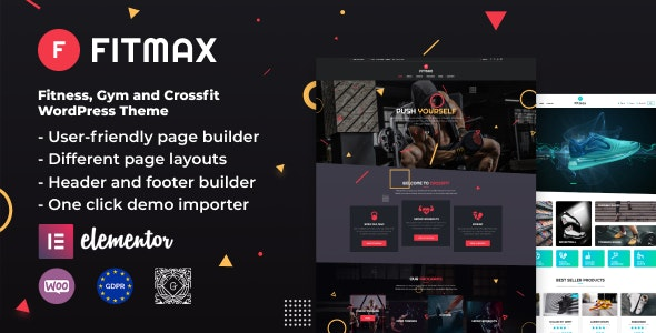 Fitmax - Gym and Fitness WordPress Theme - Health & Beauty Retail