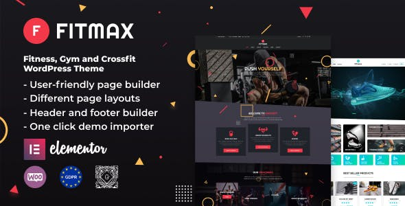 Fitmax - Gym and Fitness WordPress Theme