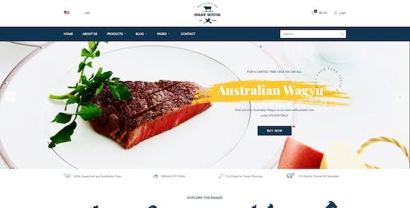 MeatHouse - Butcher & Carne Shop PSD template