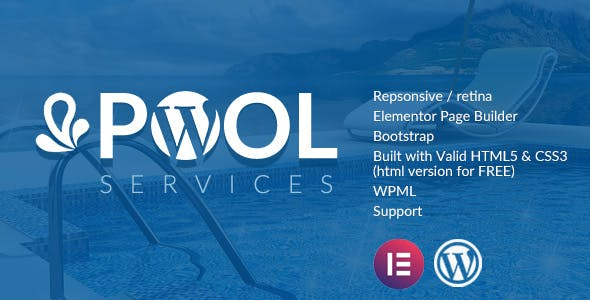 Pool Services WordPress Theme + RTL