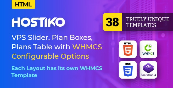 Hostiko - Hosting HTML & WHMCS Template With Isometric Design - Hosting Technology