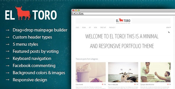 El Toro - Minimal and Responsive Portfolio Theme - Portfolio Creative
