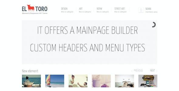 El Toro - Minimal and Responsive Portfolio Theme