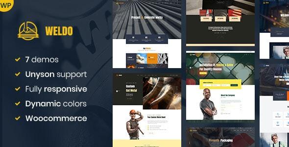 Weldo - Metal Works WordPress Theme - Business Corporate