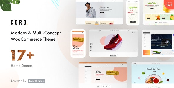 Coro - MultiPurpose WooCommerce Theme With MultiVendor - WooCommerce eCommerce