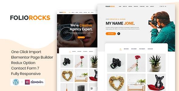 Foliorocks - Minimal Portfolio WordPress Theme - Photography Creative