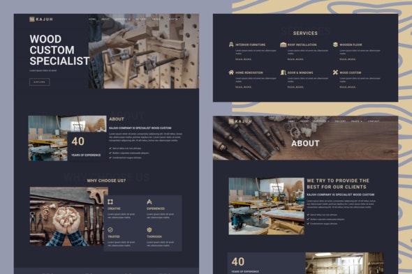 Kajuh - Carpenter Elementor Template kit - Business & Services Elementor