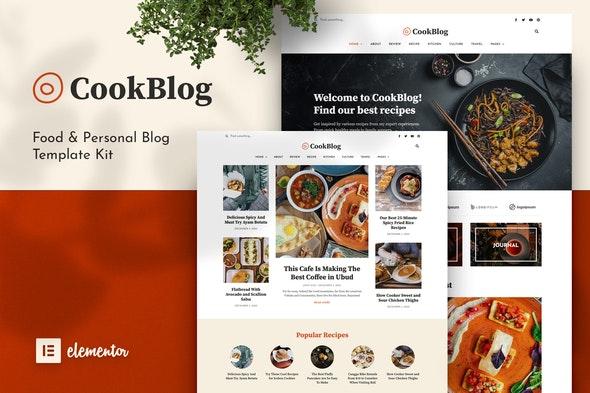 CookBlog – Food & Personal Blog Elementor Template Kit - Blogs & Podcasts Elementor