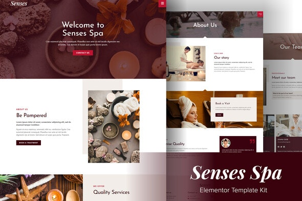 Senses - Beauty Spa Salon Elementor Template Kit - Fashion & Beauty Elementor