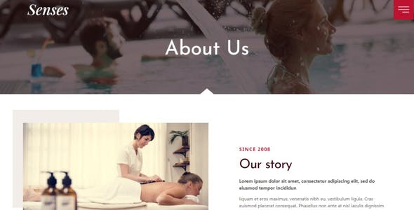 Senses - Beauty Spa Salon Elementor Template Kit
