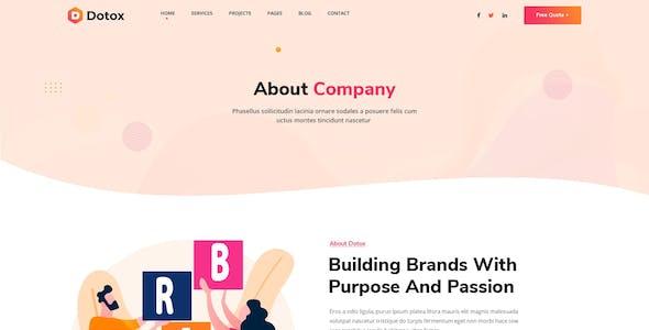Dotox - Creative Agency XD Template