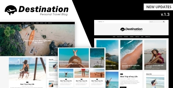Destination - Travel Blog WordPress Theme - Blog / Magazine WordPress
