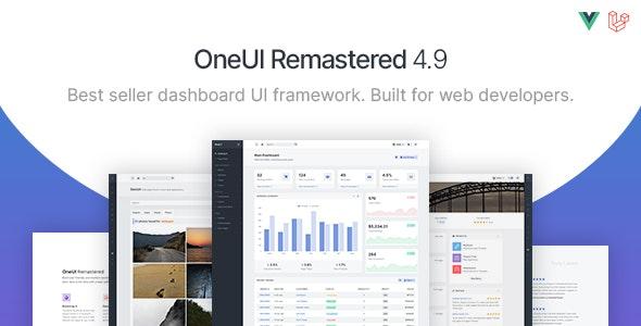 OneUI - Bootstrap 4 Admin Dashboard Template, Vuejs & Laravel 8 Starter Kit - Admin Templates Site Templates