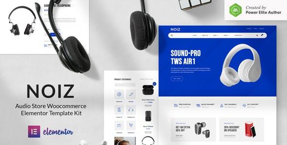 Noiz – Audio Store WooCommerce Elementor Template Kit