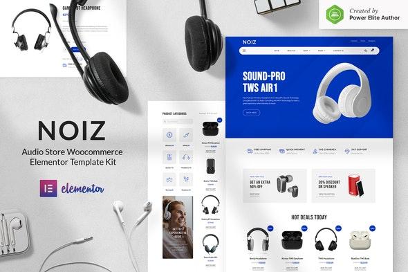 Noiz – Audio Store WooCommerce Elementor Template Kit - Shopping & eCommerce Elementor