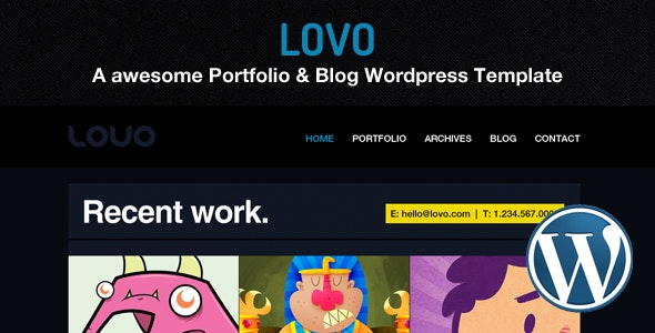 Lovo Wordpress Portfolio and Blog Theme - Creative WordPress