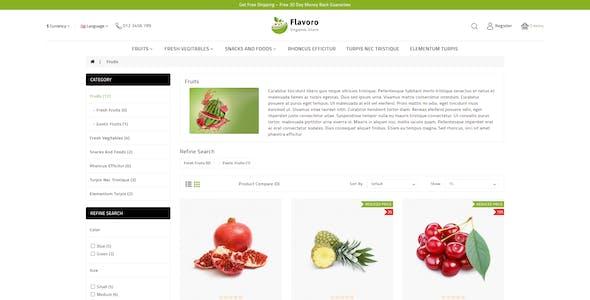 Flavero - Organic Food OpenCart Store