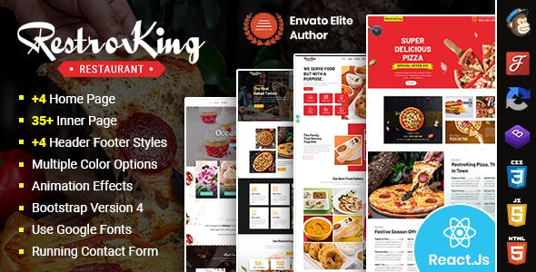 RestroKing - Cake Pizza & Bakery React Template