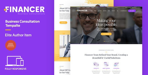 Financer | Business Consultations Joomla Template - Business Corporate