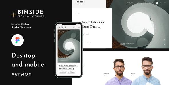 BINSIDE Architecture Template - Portfolio Creative