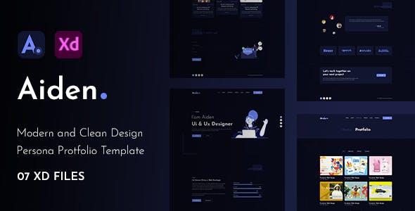 Aiden - Creative Portfolio XD Template