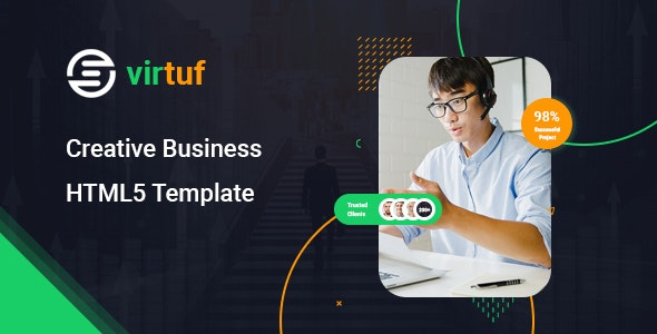Virtuf - Creative Agency Bootstrap 5 Template - Portfolio Creative