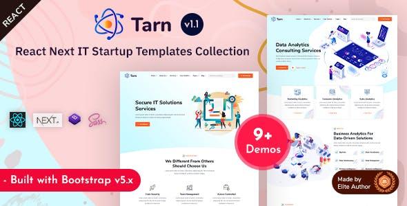 Tarn - React Next IT Startup Templates
