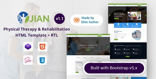 Jian - Physical Therapy & Rehabilitation HTML Template