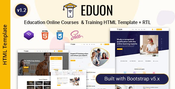 Eduon - Online Courses & Training HTML Template
