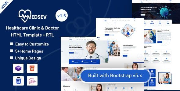 Medsev - Healthcare Clinic & Doctor HTML Template