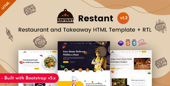 Restant - Takeway & Restaurant HTML Template