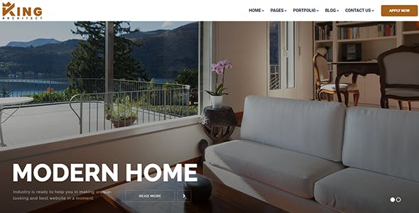 KingArchitect | Property Portfolio & Real Estate React Template - No JQuery