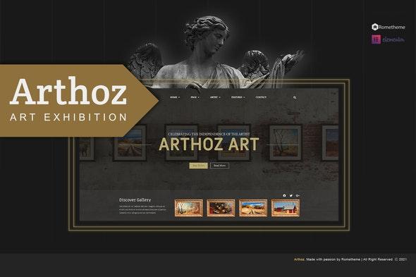 Arthoz - Art Exhibition Elementor Template kit - Events & Entertainment Elementor