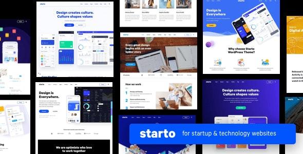 Starto | Saas Software Startup WordPress - Software Technology