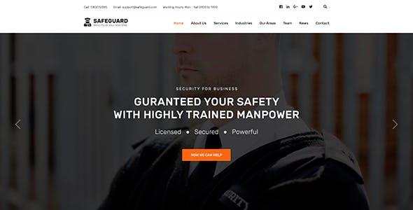 Safeguard - Security & Guard Theme