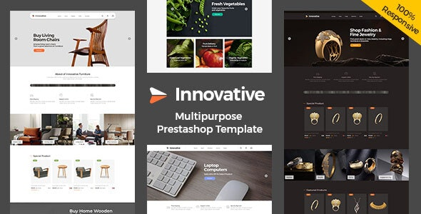Innovative Furniture Food - jewellery Electronics Prestashop Responsive Theme - Shopping PrestaShop