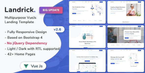 Landrick - VueJs Landing Page Template