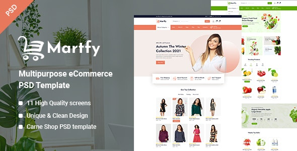 Martfy - Multipurpose eCommerce PSD Template - Fashion Retail