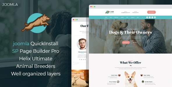 Venator - Dog Behavior and Obedience Training Joomla Template - Joomla CMS Themes