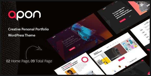 Apon - Creative Portfolio WordPress Theme