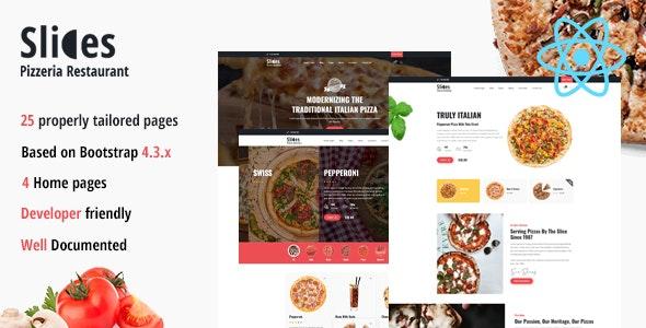 Slices - Pizzeria React Template - Food Retail