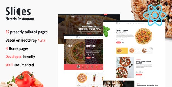 Slices - Pizzeria React Template