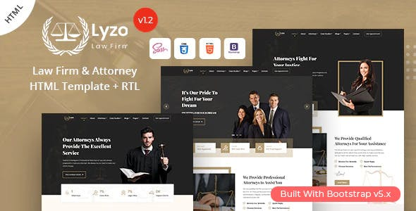 Lyzo - Law Firm & Attorney HTML Template