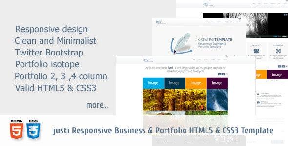 JUSTI Responsive HTML5&CSS3 Template - Creative Site Templates