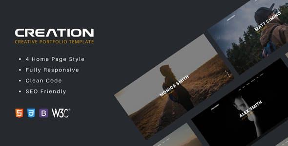 Creation - Creative Portfolio HTML Template
