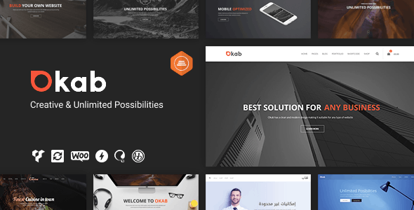 Okab - Responsive Multi-Purpose WordPress Theme + RTL