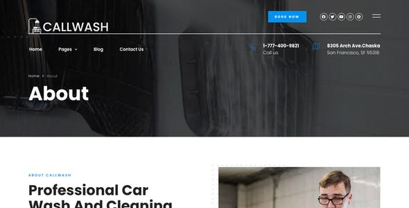 Callwash - Mobile Car Wash Elementor Template Kit